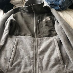 Grey north face jacket size small